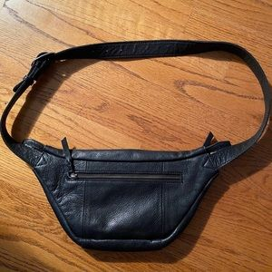Free People leather fanny pack
